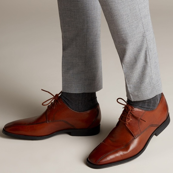 Clarks Gilman Mode Brown Leather Shoes